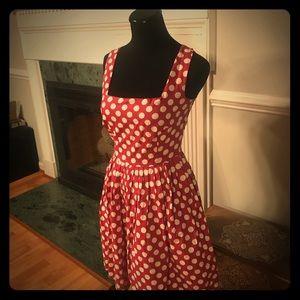 Cute vintage inspired polka dot dress